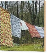 How To Dry An American Quilt Wood Print