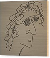 Howard Stern Wood Print