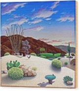 Howards Landscape Wood Print