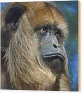 Howler Monkey Wood Print