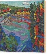 Howry Creek Campsite Wood Print