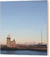 Howth Lighthouse In Ireland Wood Print