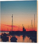 Howth Sunset Wood Print