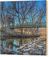 Hoyt Bridge Wood Print