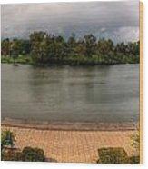 Hoyt Lake At Delaware Park Wood Print