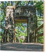 Hoyt Park Bridge Wood Print
