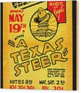 Hoyts A Texas Steer Wood Print