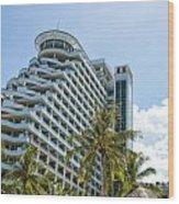 Hua Hin Hotel Wood Print