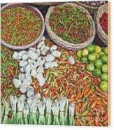 Hua Hin Market 03 Wood Print