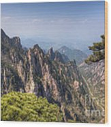 Huangshan Mountain Chinese Famous Landscape Wood Print