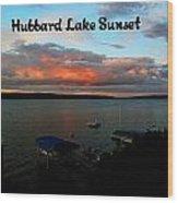 Hubbard Lake Wood Print