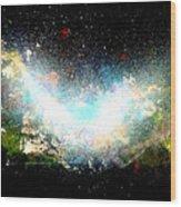 Hubble Birth Of A Galaxy Wood Print