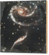 Hubble - Rose Made Of Galaxies Wood Print