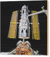 Hubble Space Telescope Redeployment  Wood Print