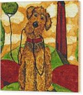 Hubbs Art Folk Prints Whimsical Animals Dog Pet Walk Italy Tuscany Country Wood Print