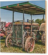 Huber Tractor Wood Print