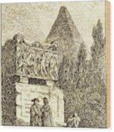 Hubert Robert, French 1733-1808, The Sarcophagus Wood Print