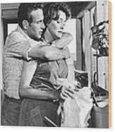 Hud, From Left, Paul Newman, Patricia Wood Print