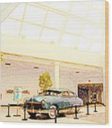 Hudson Car Under Skylight Wood Print by Design Turnpike