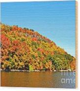 Hudson River Fall Foliage Wood Print
