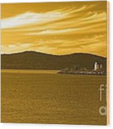 Hudson River Lighthouse Wood Print
