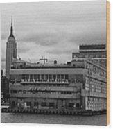 Hudson River Marine Aviation Pier 57 New York City Wood Print