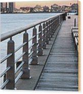Hudson River Park Wood Print by JC Findley