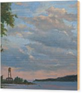 Hudson River Skyscape  Wood Print