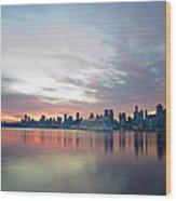 Hudson River Sunrise Nyc Wood Print