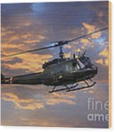Huey - Vietnam Workhorse Wood Print
