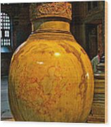Huge Marble Jar Cut From One Piece Of Marble In Saint Sophia's I Wood Print