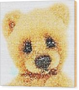 Huggable Teddy Bear Wood Print
