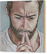Hugh Jackman Wood Print