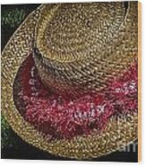 Hula Hats 5 Wood Print
