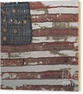 Hulbert Flag Early Us Flag 1776 Wood Print by Photo Researchers