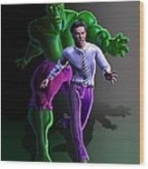 Hulk - Bruce Alter Ego Wood Print