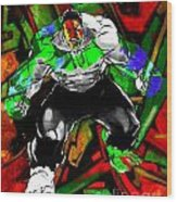 Hulk Graffiti Wood Print