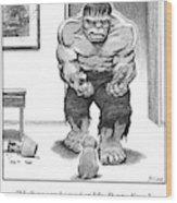 Hulk No Can Be Mad At Mr. Puppy Face Wood Print