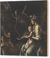 Human Frailty, C.1656 Wood Print