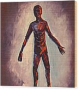 Humanoid Wood Print by Dayna Reed