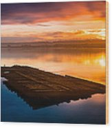 Humboldt Bay Spring Sunrise Wood Print