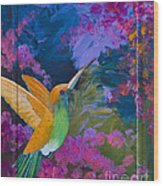 Hummers Paradise Wood Print