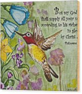 Humming Bird- Philipians Wood Print