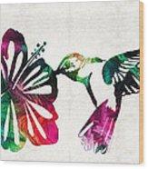 Hummingbird Art - Tropical Chorus - By Sharon Cummings Wood Print