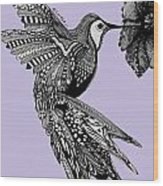 Hummingbird Flight 10 Wood Print