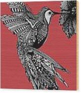 Hummingbird Flight 15 Wood Print