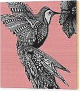 Hummingbird Flight 18 Wood Print