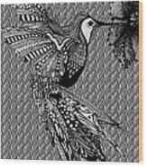 Hummingbird Flight 20 Wood Print