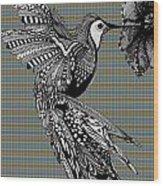 Hummingbird Flight 21 Wood Print