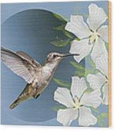 Hummingbird Heaven Wood Print by Bonnie Barry